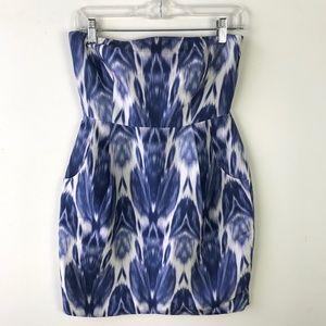 J.Crew Collection Silk Ikat Strapless Dress #940